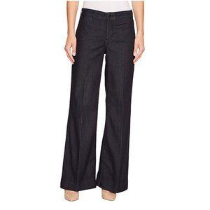 NYDJ Teresa Wide Leg Dark Jean Trouser Size 14